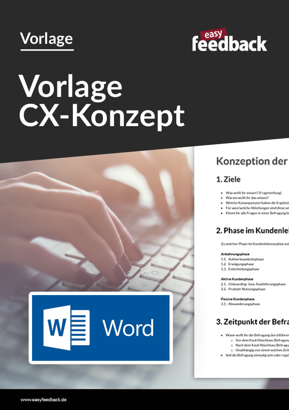 Word-Vorlage Konzeption Kundenumfrage
